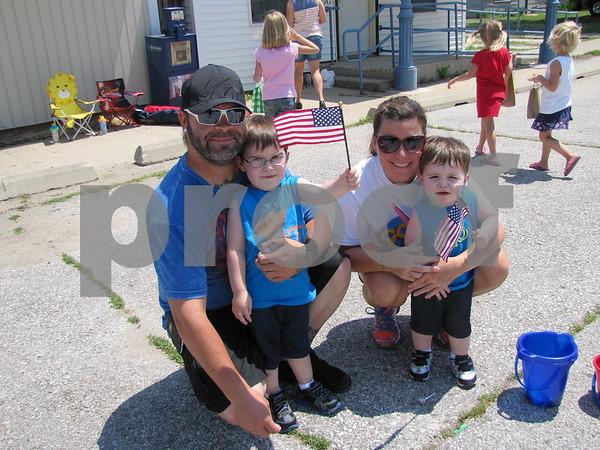 Tre and Niccole with their boys Shaun and Garrett.