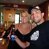 Lisa and Cory enjoying a cool beverage at the lakehouse bar.  ( 2009 )