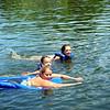 Lisa, Brock and Morgan swimming in the lake  ( 2009 )