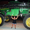 Lisa just stopped by the side of the road to pick up this tractor  ( 2009 )