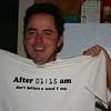 Chad and his birthday shirt