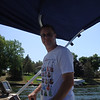 Todd drives the boat on Sun Valley Lake ( 2012 )