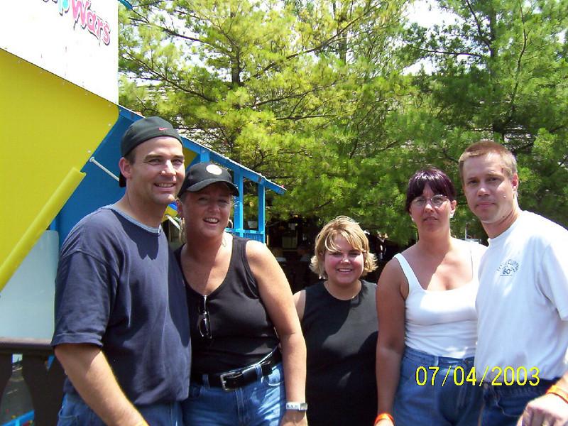 Phil, Mary, Lisa, Lori and Todd at the park