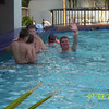 Alex and Brian at the swim up bar