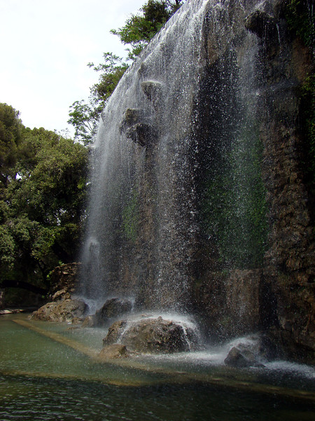 Waterfall found at the top of the Colline du chateau, the hill overlooking Nice.