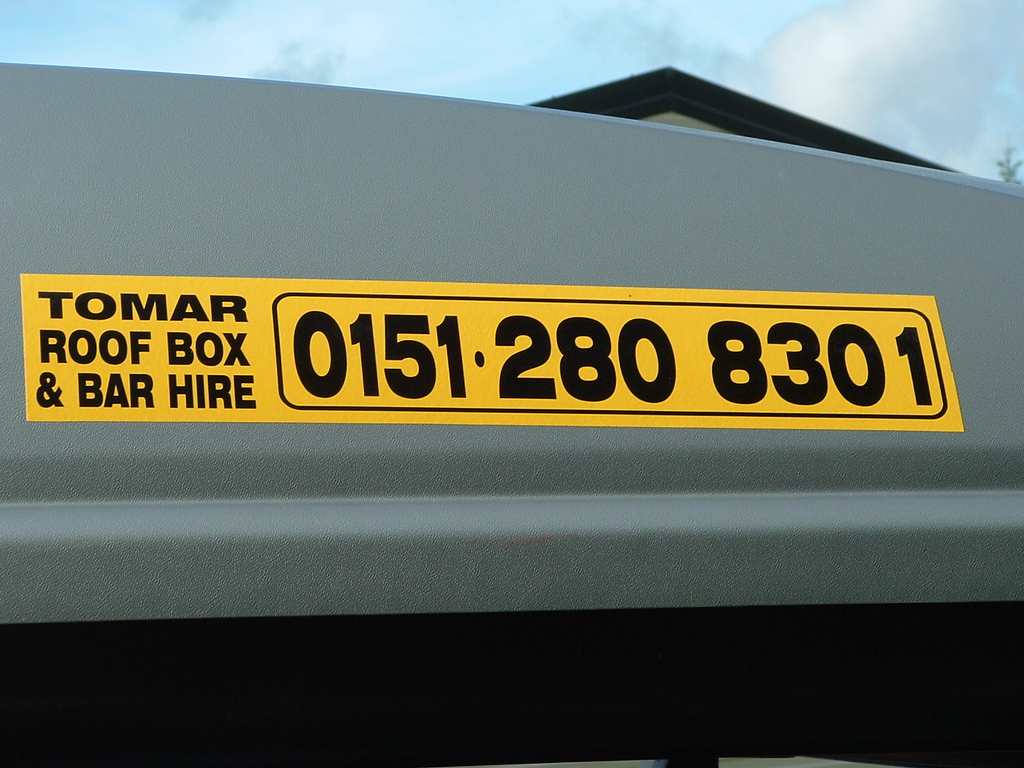 Roof Box company happens to be the same name as Mary's brother Tom's business in Arizona.