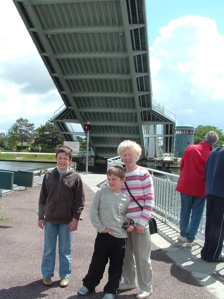 Under Pegasus Bridge  near Caen