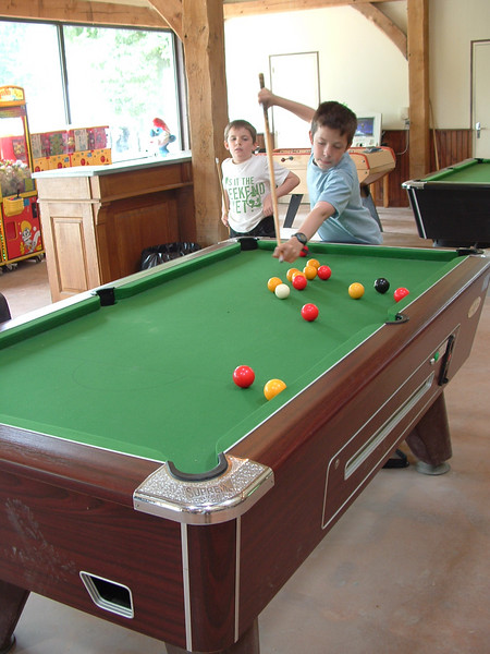 Pool in the games room.