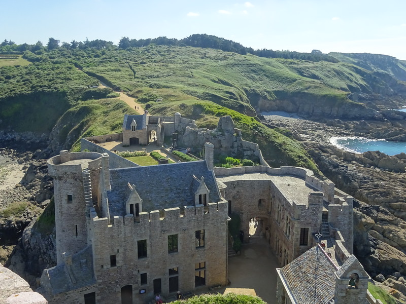 The castle has had a long history - earthworks on the approach are from the 14th and 15th century and there are buildings within the curtain wall to match. The walls were also modified for modern gunpowder based artillery.