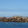 Red Granite on the Ile Renote, just NE of Saint Anne - still chasing the last little bit of sun!
