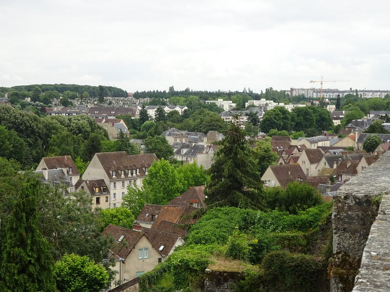 The view east of the city
