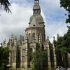 In Le Jardin des Anglais in Dinan - the Basilique Saint Sauver