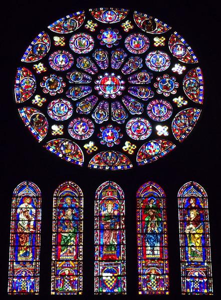 Somehow these windows have survived war(s), insurrection, revolutions for 6-7 centuries - stunning.
