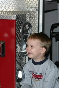 Elijah on Fire Truck