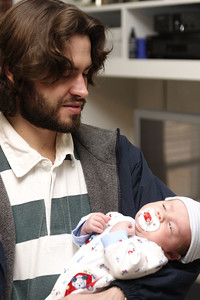 Baby Issac and Daddy.