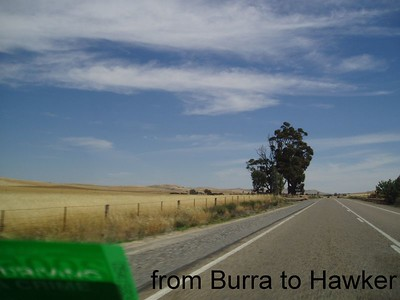 from Burra going North