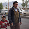 Father and son. Leh Market.