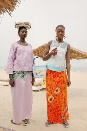 Girls selling peanuts