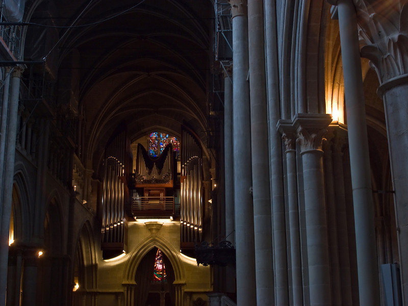 Cathedral organ and columns