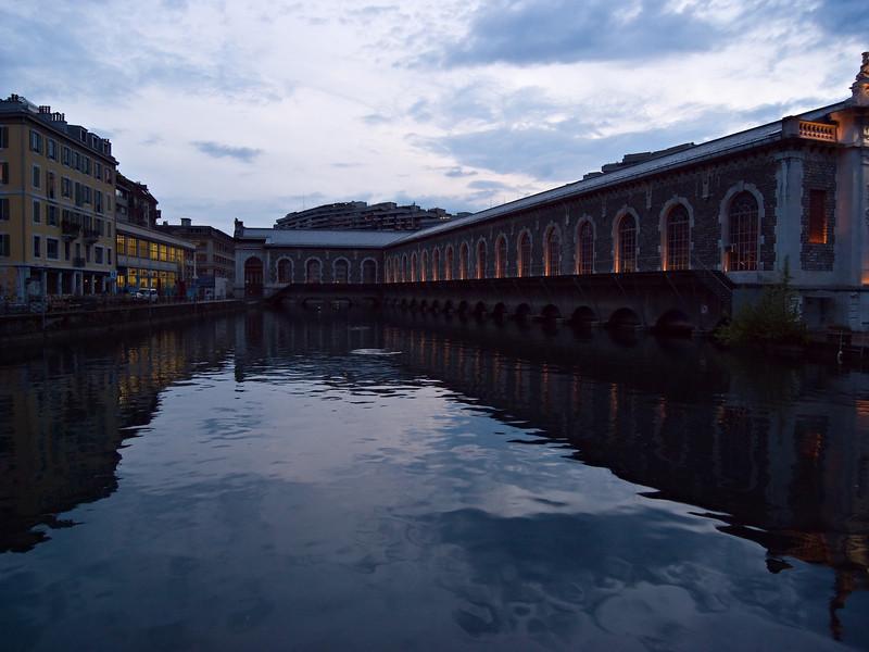 Big public building on the river