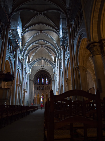 Inside Lausanne's impressive and rather gloomy cathedral