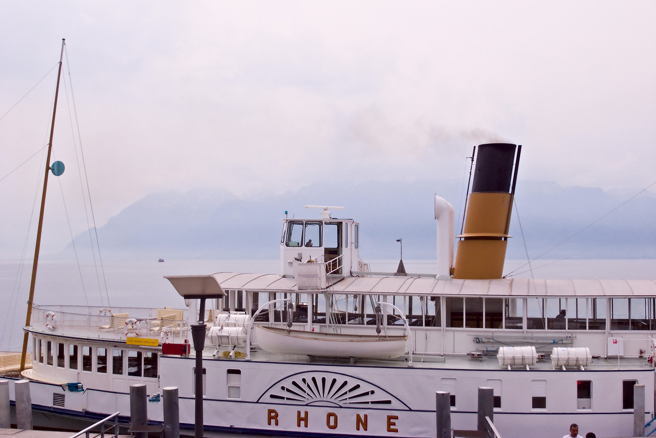 Paddle steamer, the Rhone.