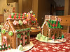 A view of the gingerbread city.