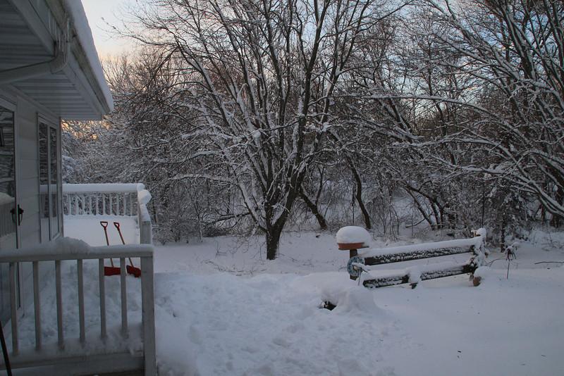 Very snowy outside