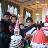 Jason, Rose and  kids Damian and Chloe Clark enjot the sights at Petaluma Gingerbread House Showcase & Competition Hosted by Hotel Petaluma December 15-17th 2017. Victoria Webb for the Argus-Courier