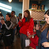 "The ""press pit"" of parents for Santa at Petaluma Gingerbread House Showcase & Competition Hosted by Hotel Petaluma December 15-17th 2017. Victoria Webb for the Argus-Courier"