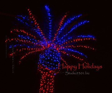 Red Bllue lighted palm 5901HappyHol