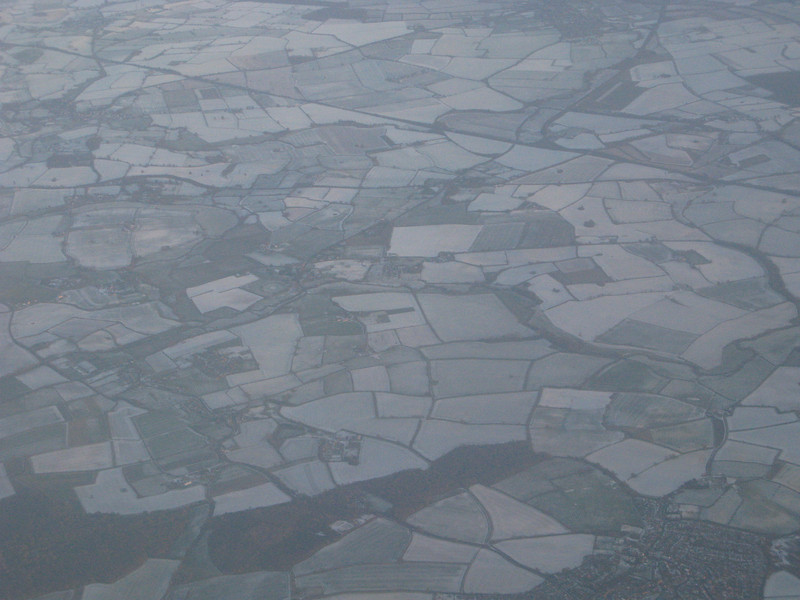Frosty weather in the UK as we fly south to Gran Canaria.