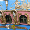 This old ship is covered with ornate carving and colourful traditional paintwork.