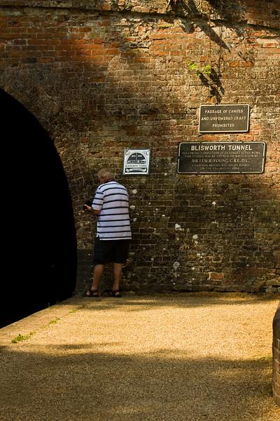 Stoke Bruerne. the tunnel
