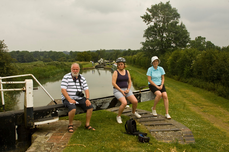 the cyclists - there are 17 locks on this stretch of the canal.