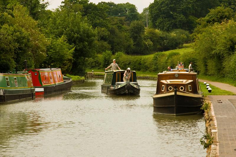 Stoke Bruerne narrow boats