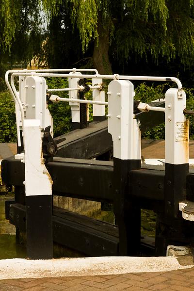 Stoke Bruerne. lock gates