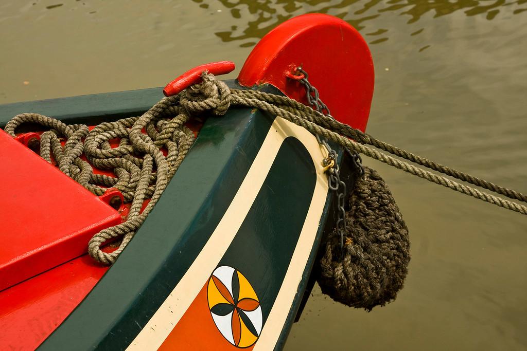 Stoke Bruerne narrow boat prow