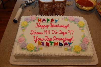 Well, it was certainly less dangerous than 97 candles.