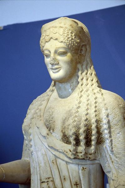 athens - acropolis - museum statue