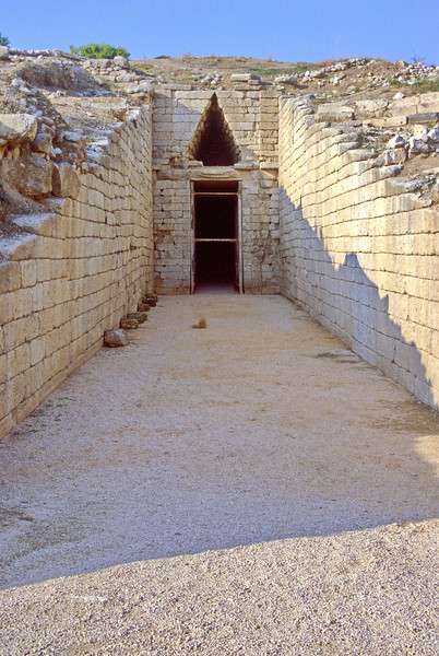 mycenae - tomb entrance