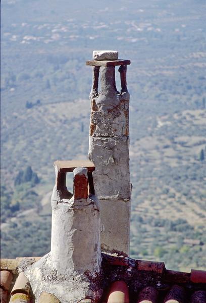 sparta - old mystras - chimnies