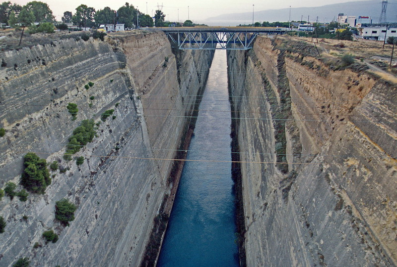 peloponnese - passing over corinth canal