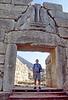 mycenae - cliff in gate