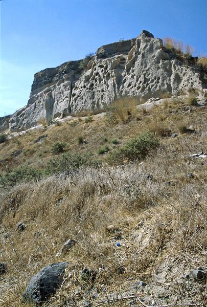 santorini - akrotiri - volcanic deposition