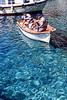 santorini - oia - small boat in harbour