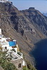santorini - house with pool along crater wall