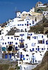 santorini - oia - houses on hill