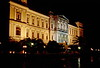 syros - ermouplois town hall at night