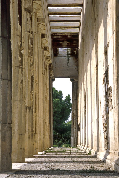 athens - stoa of attalus - columns